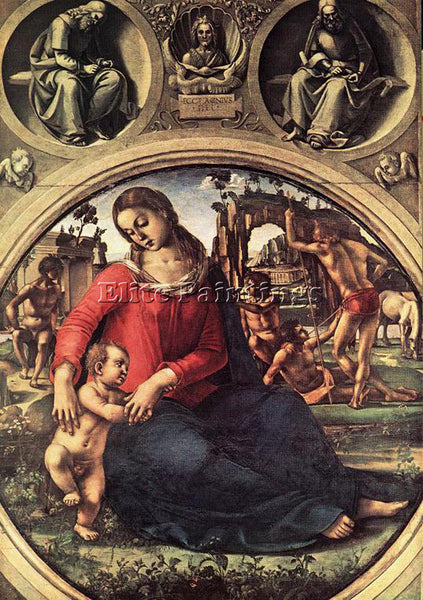 LUCA SIGNORELLI MADONNA AND CHILD ARTIST PAINTING REPRODUCTION HANDMADE OIL DECO