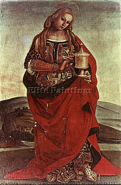 LUCA SIGNORELLI MARY MAGDALENE ARTIST PAINTING REPRODUCTION HANDMADE OIL CANVAS
