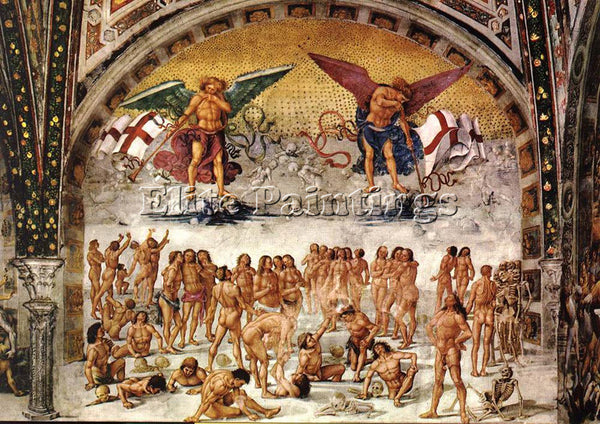 LUCA SIGNORELLI RESURRECTION OF THE FLESH ARTIST PAINTING REPRODUCTION HANDMADE