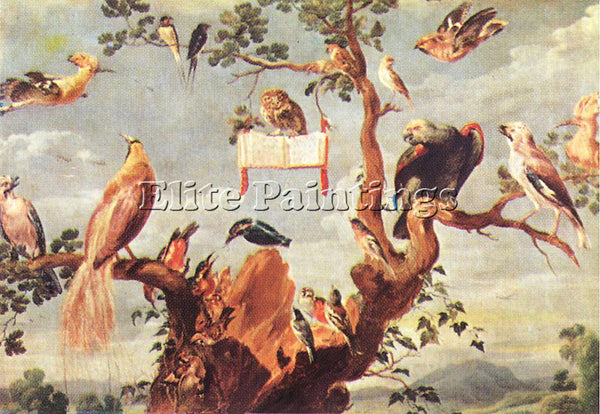 FRANS SNYDERS CONCERT OF BIRDS 2 ARTIST PAINTING REPRODUCTION HANDMADE OIL REPRO