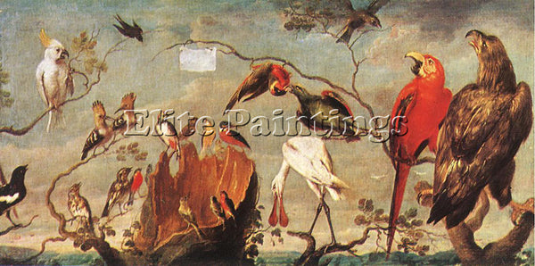 FRANS SNYDERS CONCERT OF BIRDS 3 ARTIST PAINTING REPRODUCTION HANDMADE OIL REPRO