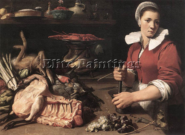 FRANS SNYDERS COOK WITH FOOD 1 ARTIST PAINTING REPRODUCTION HANDMADE OIL CANVAS