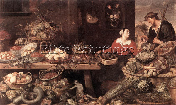 FRANS SNYDERS FRUIT AND VEGETABLE STALL ARTIST PAINTING REPRODUCTION HANDMADE