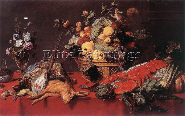 FRANS SNYDERS STILL LIFE WITH A BASKET OF FRUIT 1 ARTIST PAINTING REPRODUCTION