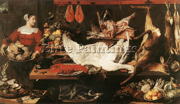 FRANS SNYDERS PANTRY ARTIST PAINTING REPRODUCTION HANDMADE OIL CANVAS REPRO WALL