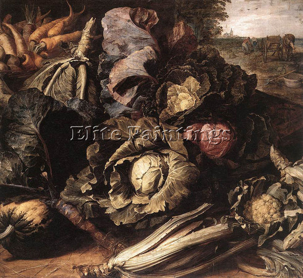 FRANS SNYDERS VEGETABLE STILL LIFE 1 ARTIST PAINTING REPRODUCTION HANDMADE OIL