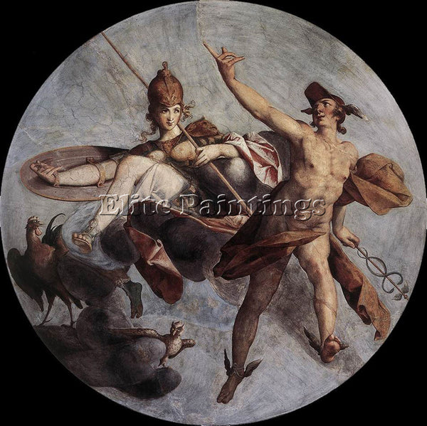 BARTHOLOMAEUS SPRANGER HERMES AND ATHENA ARTIST PAINTING REPRODUCTION HANDMADE