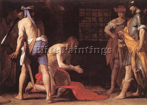 STANZIONE MASSIMO BEHEADING OF ST JOHN THE BAPTIST ARTIST PAINTING REPRODUCTION