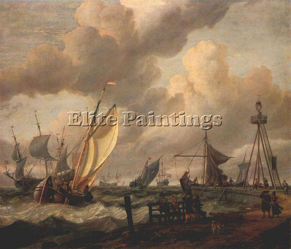 STORCK ABRAHAM JANSZ SHIPPING ARTIST PAINTING REPRODUCTION HANDMADE CANVAS REPRO