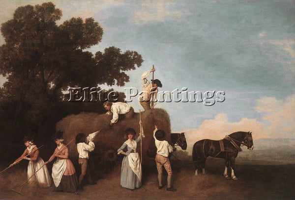 STUBBS GEORGE HAYMAKING ARTIST PAINTING REPRODUCTION HANDMADE CANVAS REPRO WALL