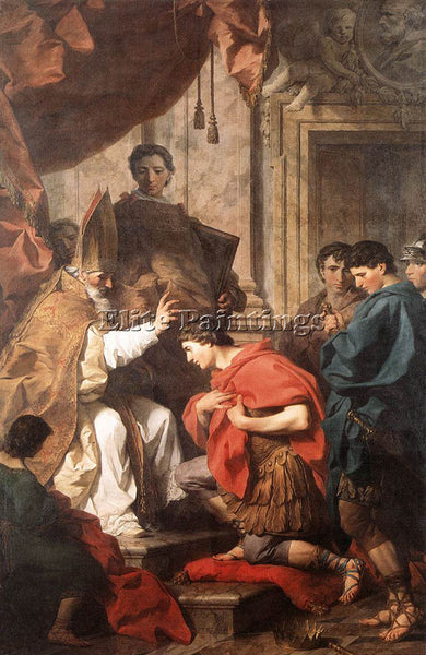 PIERRE SUBLEYRAS ST AMBROSE CONVERTING THEODOSIUS ARTIST PAINTING REPRODUCTION