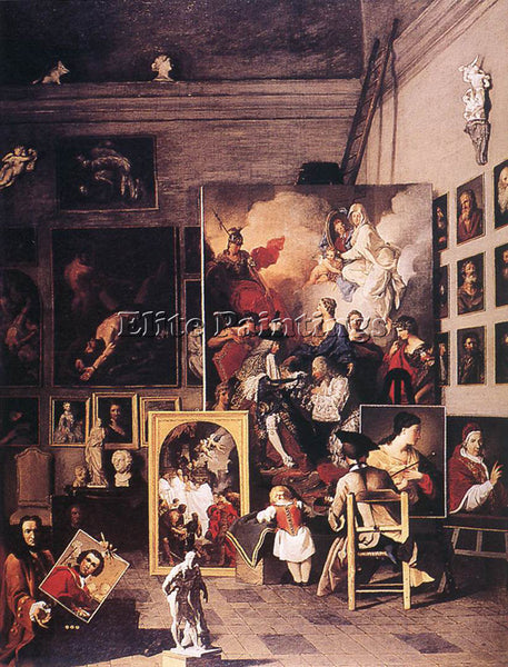 PIERRE SUBLEYRAS THE STUDIO OF THE PAINTER ARTIST PAINTING REPRODUCTION HANDMADE