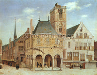 DUTCH SAENREDAM PIETER JANSZ DUTCH 1597 1665 ARTIST PAINTING HANDMADE OIL CANVAS