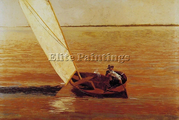 THOMAS EAKINS SAILING ARTIST PAINTING REPRODUCTION HANDMADE OIL CANVAS REPRO ART