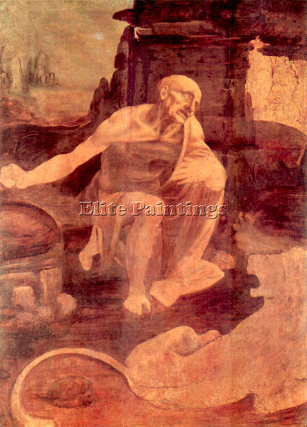 LEONARDO DA VINCI SAINT HIERONYMUS ARTIST PAINTING REPRODUCTION HANDMADE OIL ART