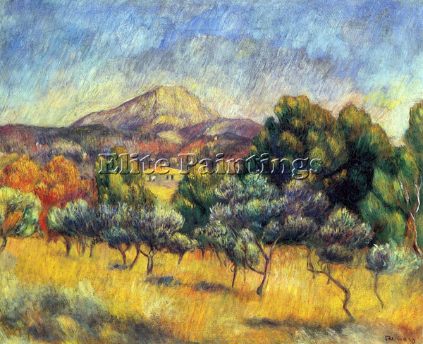 RENOIR SAINTE VICORIA MOUNTAIN ARTIST PAINTING REPRODUCTION HANDMADE OIL CANVAS