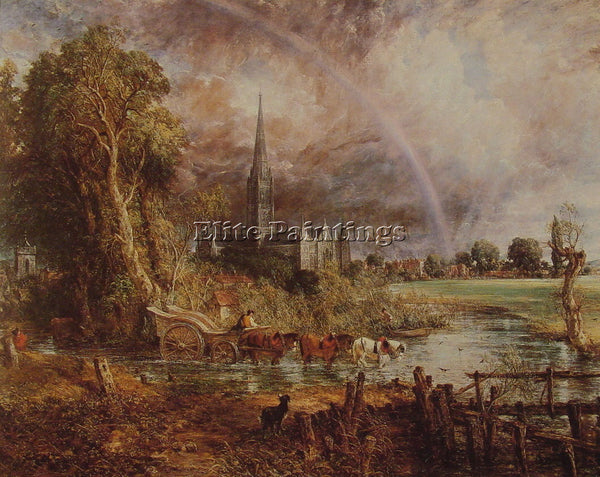 JOHN CONSTABLE SALISBURY CATHEDRAL FROM THE MEADOWS ARTIST PAINTING REPRODUCTION