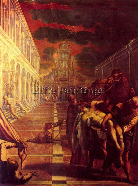 TINTORETTO SALVAGE OF THE CORPSE OF ST MARK ARTIST PAINTING HANDMADE OIL CANVAS