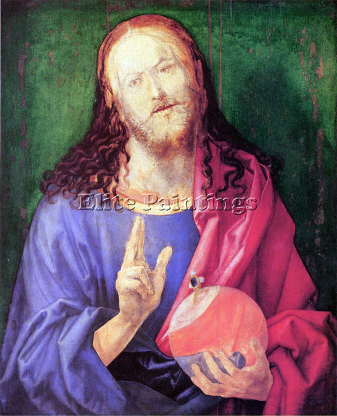 DURER SALVATOR MUNDI ARTIST PAINTING REPRODUCTION HANDMADE OIL CANVAS REPRO WALL