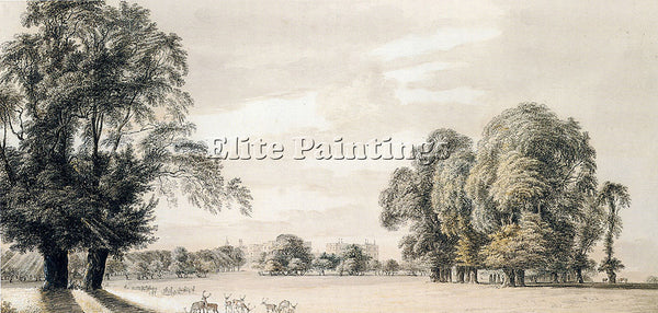 PAUL SANDBY SOUTH EAST VIEW OF WINDSOR CASTLE FROM THE PARK ARTIST PAINTING OIL