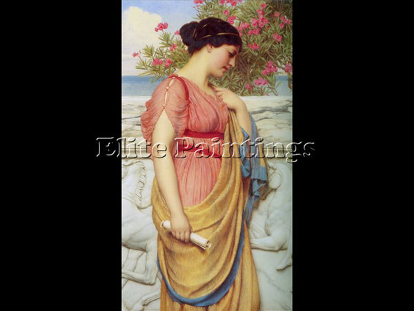 JOHN WILLIAM GODWARD SAPPHO 1910 ARTIST PAINTING REPRODUCTION HANDMADE OIL REPRO