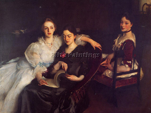 JOHN SINGER SARGENT THE MISSES VICKERS ARTIST PAINTING REPRODUCTION HANDMADE OIL