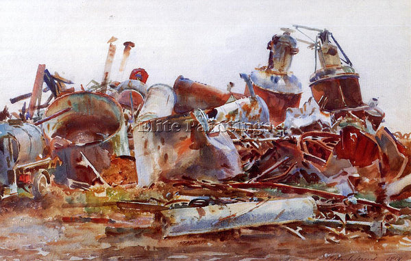 JOHN SINGER SARGENT THE WRECKED SUGAR REFINERY ARTIST PAINTING REPRODUCTION OIL