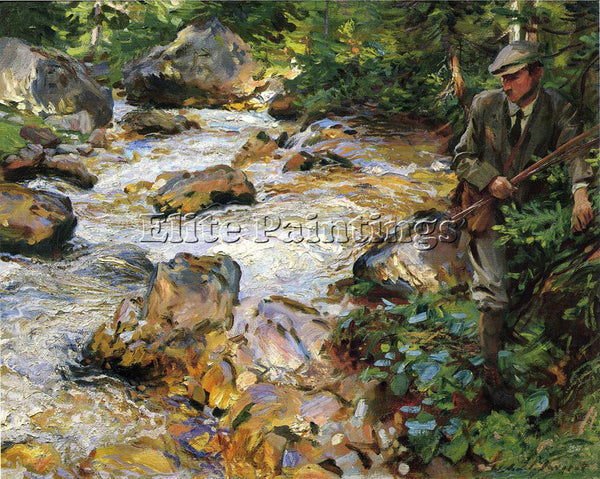 JOHN SINGER SARGENT TROUT STREAM IN THE TYROL ARTIST PAINTING REPRODUCTION OIL