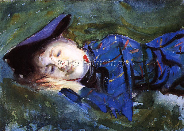 JOHN SINGER SARGENT VIOLET RESTING ON THE GRASS ARTIST PAINTING REPRODUCTION OIL