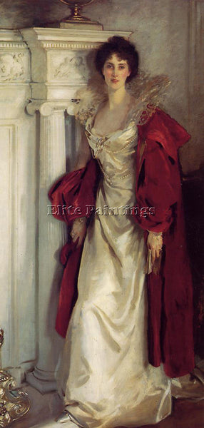 JOHN SINGER SARGENT WINIFRED DUCHESS OF PORTLAND ARTIST PAINTING HANDMADE CANVAS