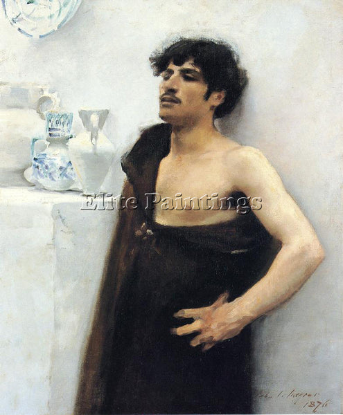 JOHN SINGER SARGENT YOUNG MAN IN REVERIE ARTIST PAINTING REPRODUCTION HANDMADE