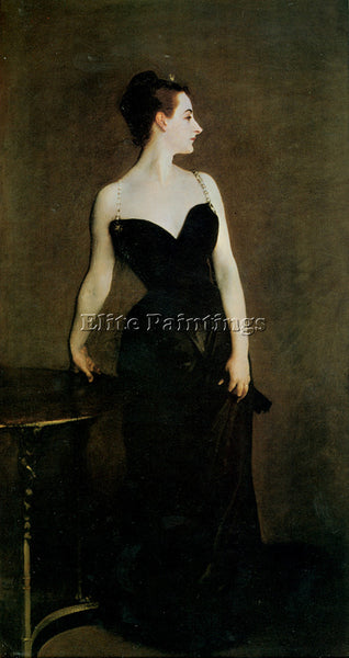 JOHN SINGER SARGENT MADAME X ARTIST PAINTING REPRODUCTION HANDMADE CANVAS REPRO