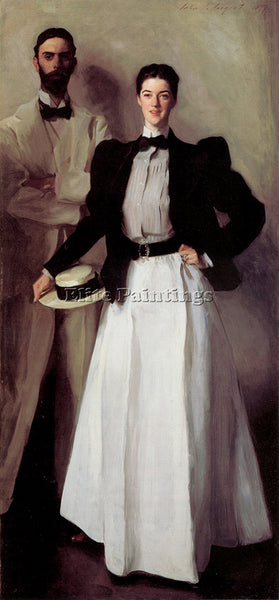 JOHN SINGER SARGENT MR AND MRS ISAAC NEWTON PHELPS STOKES ARTIST PAINTING CANVAS