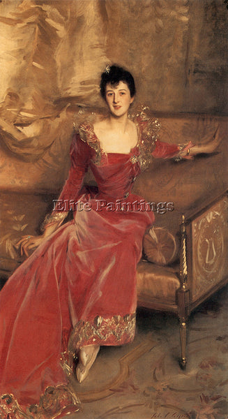 JOHN SINGER SARGENT MRS HUGH HAMMERSLEY ARTIST PAINTING REPRODUCTION HANDMADE