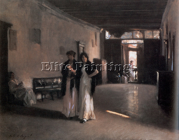 JOHN SINGER SARGENT VENETIAN INTERIOR ARTIST PAINTING REPRODUCTION HANDMADE OIL