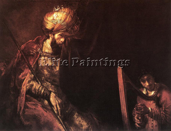 REMBRANDT SAUL AND DAVID ARTIST PAINTING REPRODUCTION HANDMADE CANVAS REPRO WALL