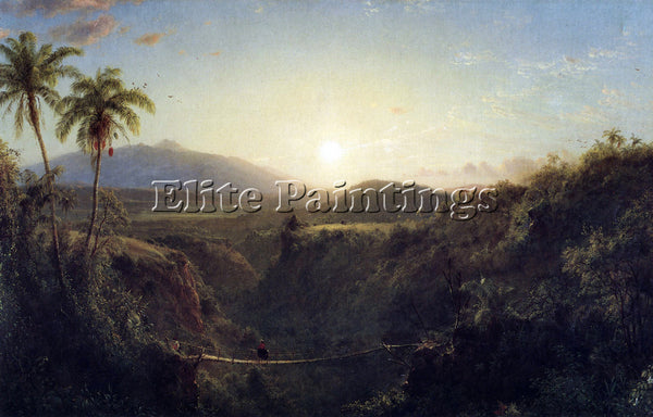 HUDSON RIVER SCENE IN THE ANDES BY FREDERICK EDWIN CHURCH ARTIST PAINTING CANVAS