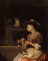 DUTCH SCHALCKEN GODFRIED DUTCH 1643 1706 ARTIST PAINTING REPRODUCTION HANDMADE