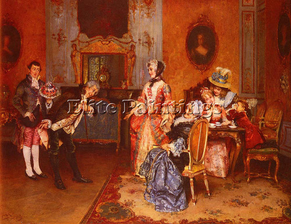 AUSTRIAN SCHMUTZLER LEOPOLD THE SUITOR ARTIST PAINTING REPRODUCTION HANDMADE OIL