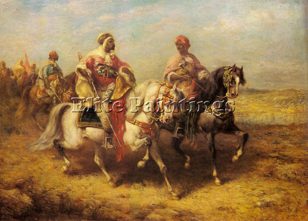 ADOLF SCHREYER ARAB CHIEFTAIN AND HIS ENTOURAGE 1 ARTIST PAINTING REPRODUCTION
