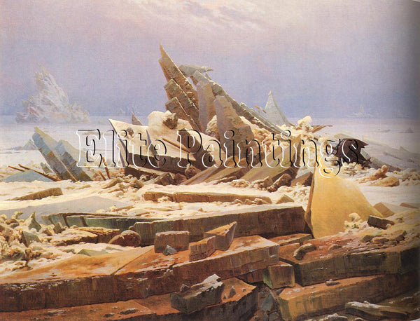 FAMOUS PAINTINGS SEA OF ICE FRIEDRICH 96 X129 CM ARTIST PAINTING HANDMADE CANVAS