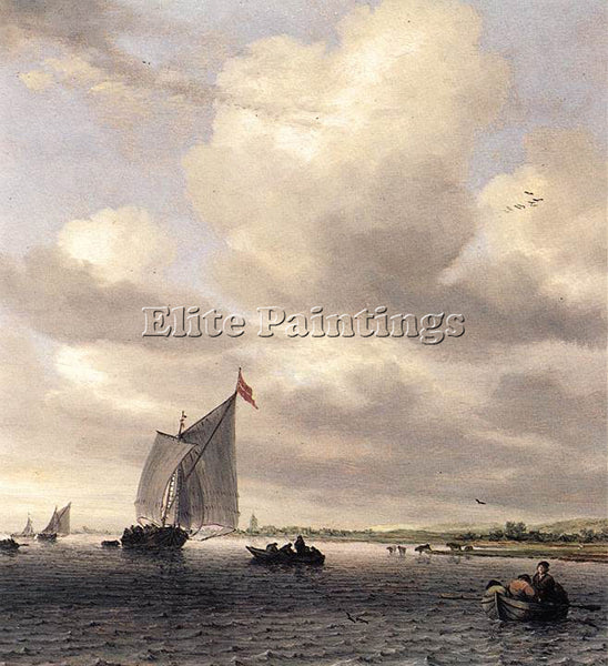 SALOMON VAN RUYSDAEL SEASCAPE ARTIST PAINTING REPRODUCTION HANDMADE CANVAS REPRO