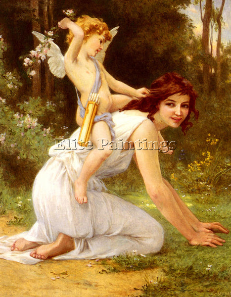 GUILLAUME SEIGNAC CUPIDS FOLLY ARTIST PAINTING REPRODUCTION HANDMADE OIL CANVAS
