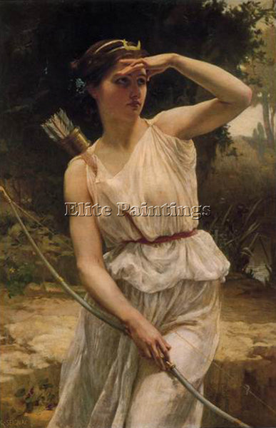GUILLAUME SEIGNAC DIANA HUNTING 1 ARTIST PAINTING REPRODUCTION HANDMADE OIL DECO