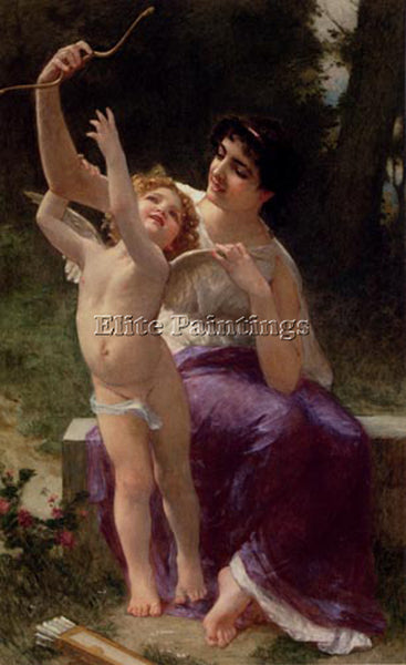 GUILLAUME SEIGNAC VENUS AND CUPID ARTIST PAINTING REPRODUCTION HANDMADE OIL DECO
