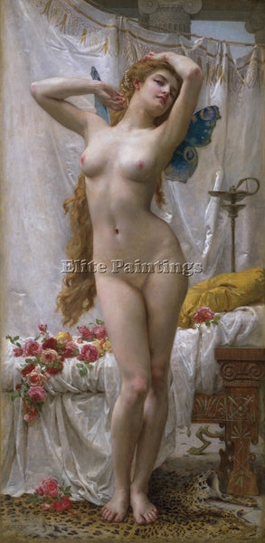 GUILLAUME SEIGNAC THE AWAKENING OF PSYCHE 1 ARTIST PAINTING HANDMADE OIL CANVAS