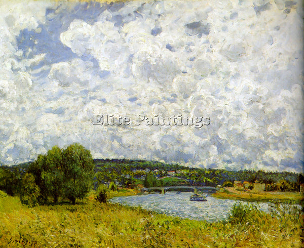 ALFRED SISLEY SEINE ARTIST PAINTING REPRODUCTION HANDMADE CANVAS REPRO WALL DECO