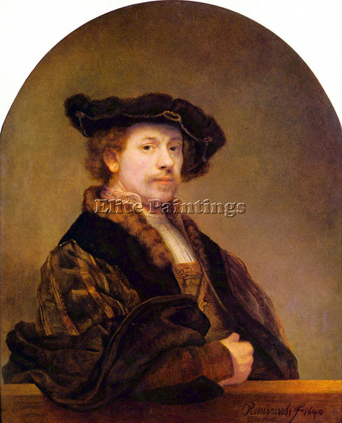 REMBRANDT SELF PORTRAIT 5  ARTIST PAINTING REPRODUCTION HANDMADE OIL CANVAS DECO