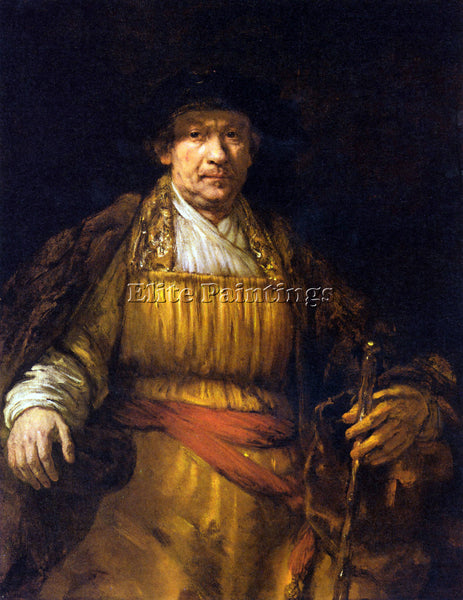 REMBRANDT SELF PORTRAIT 7  ARTIST PAINTING REPRODUCTION HANDMADE OIL CANVAS DECO