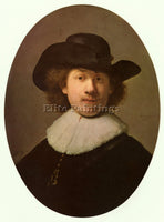 REMBRANDT SELF PORTRAIT OVAL  ARTIST PAINTING REPRODUCTION HANDMADE CANVAS REPRO